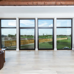 large tilt and turn windows with transoms in living room