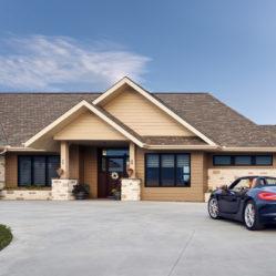 Porche convertible tilt and turn windows exterior door residential