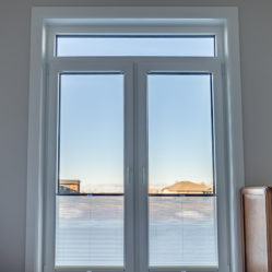 residential tilt and turn bedroom windows with custom blinds