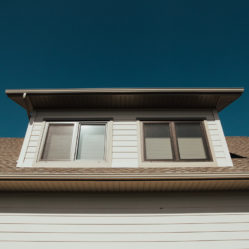 second floor tilt and turn windows with blinds