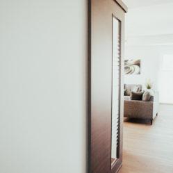 interior sliding door leading upstairs - closed
