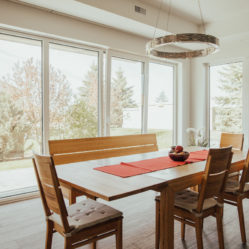 tilt and turn windows in dining room