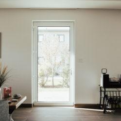 exterior door with glass