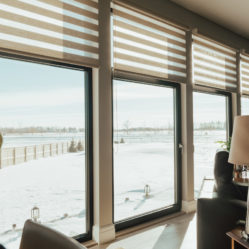 Large tilt and turn residential windows in winter